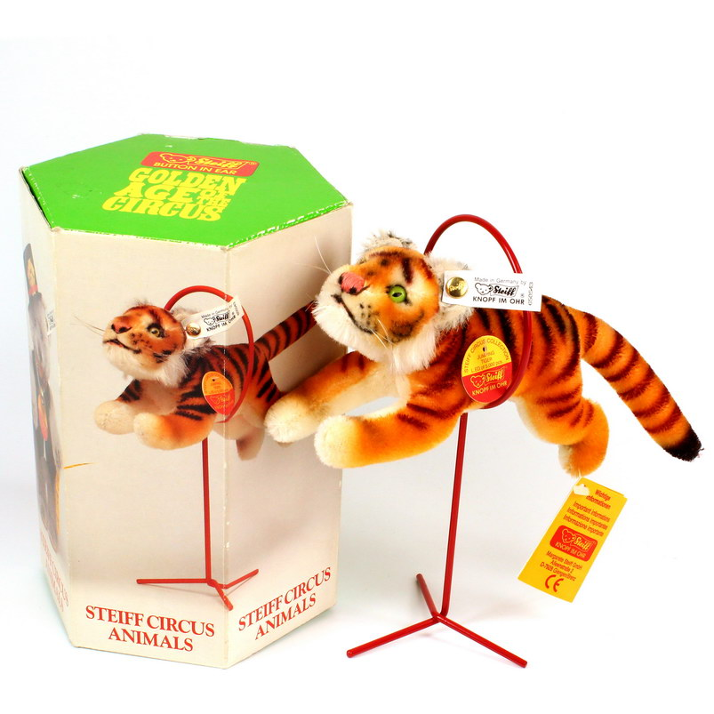STEIFF - Golden Age Of Circus - Animals - Jumping Tiger  (650543)
