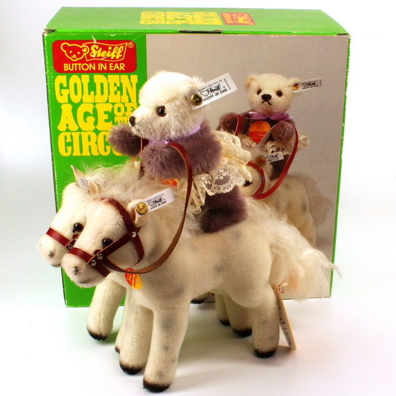 STEIFF - Golden Age Of Circus - Bear Back Rider Set (650550)