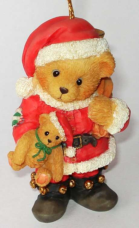 Cherished Teddies BEAR DRESSED AS SANTA -