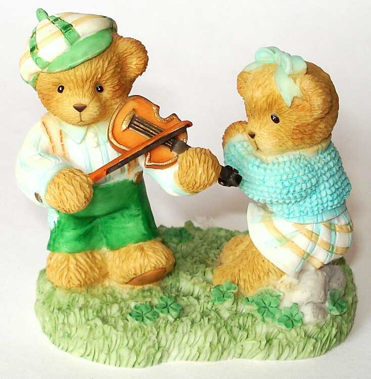 Cherished Teddies Hamilton Exclusive -  7th In The IRISH LUCK O' THE TEDDIES SERIES -