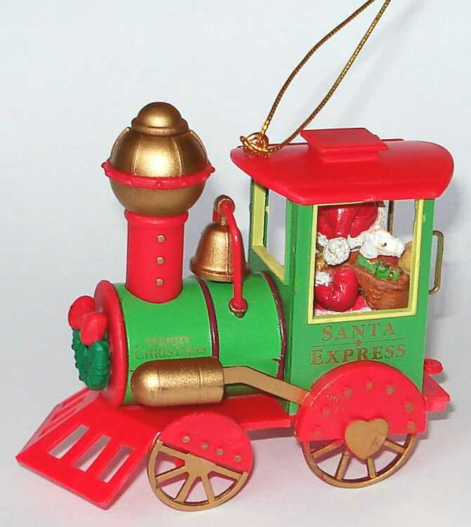 Cherished Teddies Ornament BEAR IN TRAIN - (401196)