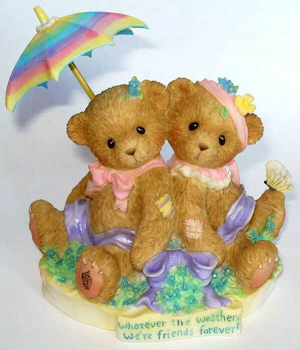 Cherished Teddies Whatever The Weather, We're Friends Forever! - Abbey Press -